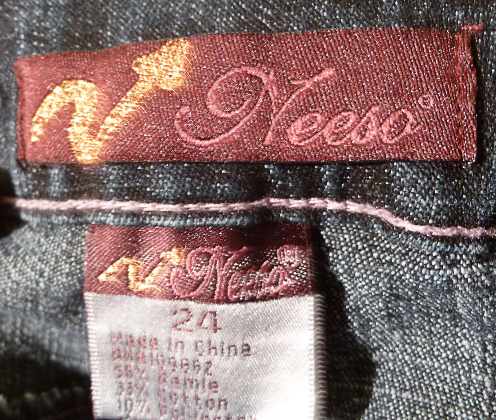 Womens Blue NEESO Denim Jeans 24 X 30 Ramie Cotton Blend