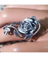 Vintage Sterling Silver Flower Crafted Ring Size 9.5 - $45.00
