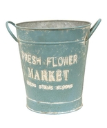 Vintage Fresh Flower Market Blue Bucket - $39.99
