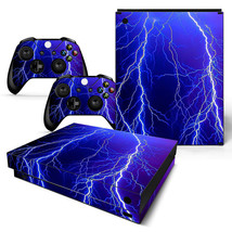 Xbox One X Skin Console & 2 Controllers Thunder Lightning Decal Vinyl Wrap - $14.82
