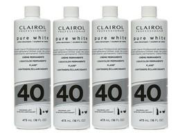 4 BOTTLES- CLAIROL PURE WHITE 40 CREME DEVELOPER MAXIMUM LIFT 16 OZ - $28.01