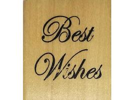 Anita's Best Wishes Wood Mounted Rubber Stamp