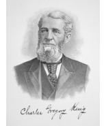 CHARLES KING Ohio Lumber Merchant & Banker - 1895 Portrait Antique Print - $9.45