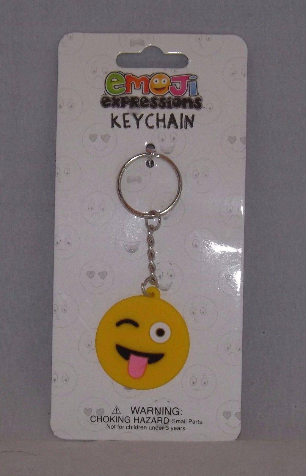 Almar Emoji Expressions Key Chain Ring  - New - Winking Emoji