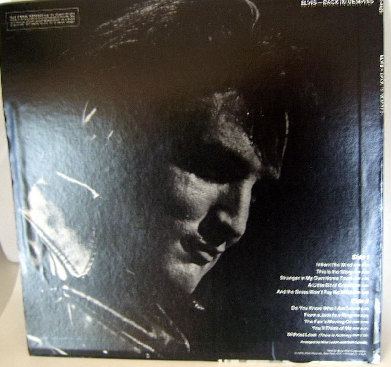'Elvis - Back in Memphis' vintage lp vinyl record