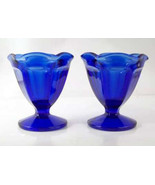 NEW (2) Low Sherbet in Fountainware-Cobalt Blue by Anchor Hocking - $14.39