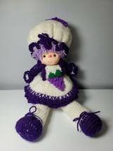 """Grape Girl Vtg Strawberry Shortcake 19"""" Doll Crochet Vinyl hands and face - $35.63"""
