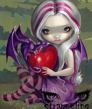 Art Print **Valentine Dragon Creation of Jasmine Becket-Griffith** - $11.95