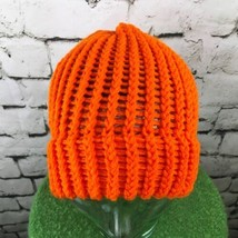 Unisex O/S Hat Orange Cable Knit Loose Weave High Visibility Beanie Wint... - $14.84