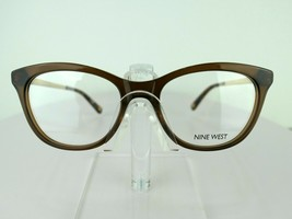 Nine West NW 8004 (210) Brown Crystal 50 x 178 135 mm  Eyeglass Frames - $51.96