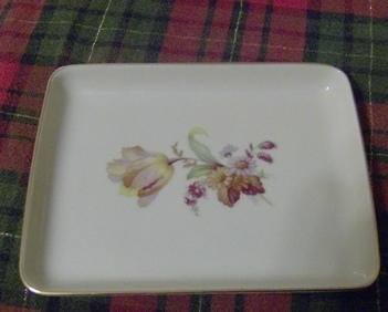 Floral Danmark Porcelain Dish or Plate