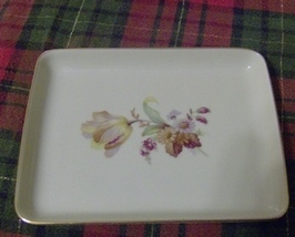 Floral Danmark Porcelain Dish or Plate - $7.99