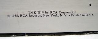 'Elvis Golden Records' rare vinyl lp 1958