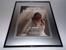 2018 La Traviata 11x14 Framed ORIGINAL Advertisement Diana Damrau - $34.64