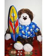 Build A Bear Surf Board Monkey Hawaiian Shirt - $13.95