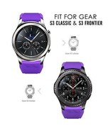 Samsung Gear S3 Watch Band Classic Frontier Silicone 46mm Wrist Strap Pu... - $21.24