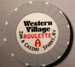 """1990's Roulette Chip From """"Peppermill's Western Village Inn & Casino"""" (s... - $2.99"""