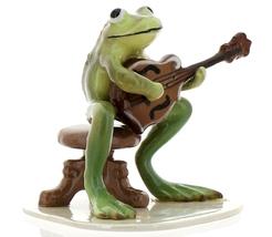 Hagen-Renaker Specialties Froggie Mountain Breakdown Bluegrass Frog Mandolin  image 2