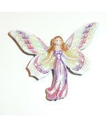 "Pretty Angel Fairy Pink Shank Metal Button 1-1/2""x1-1/4"" Pink Angel Fairy - $15.34"
