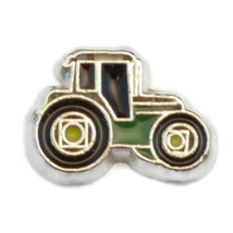 Green Tractor Charm for Floating Locket (LCHM-158) - $0.99