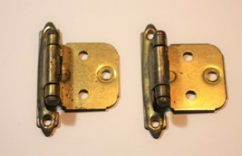 Amerock 7139 7128 Pair Cabinet Hinges Burnished Brass Self Close Variable  - $4.49