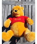 "Winnie The Pooh Stuffed Animal Disneyland Plush Teddy Bear 16"" Sweater - $12.95"