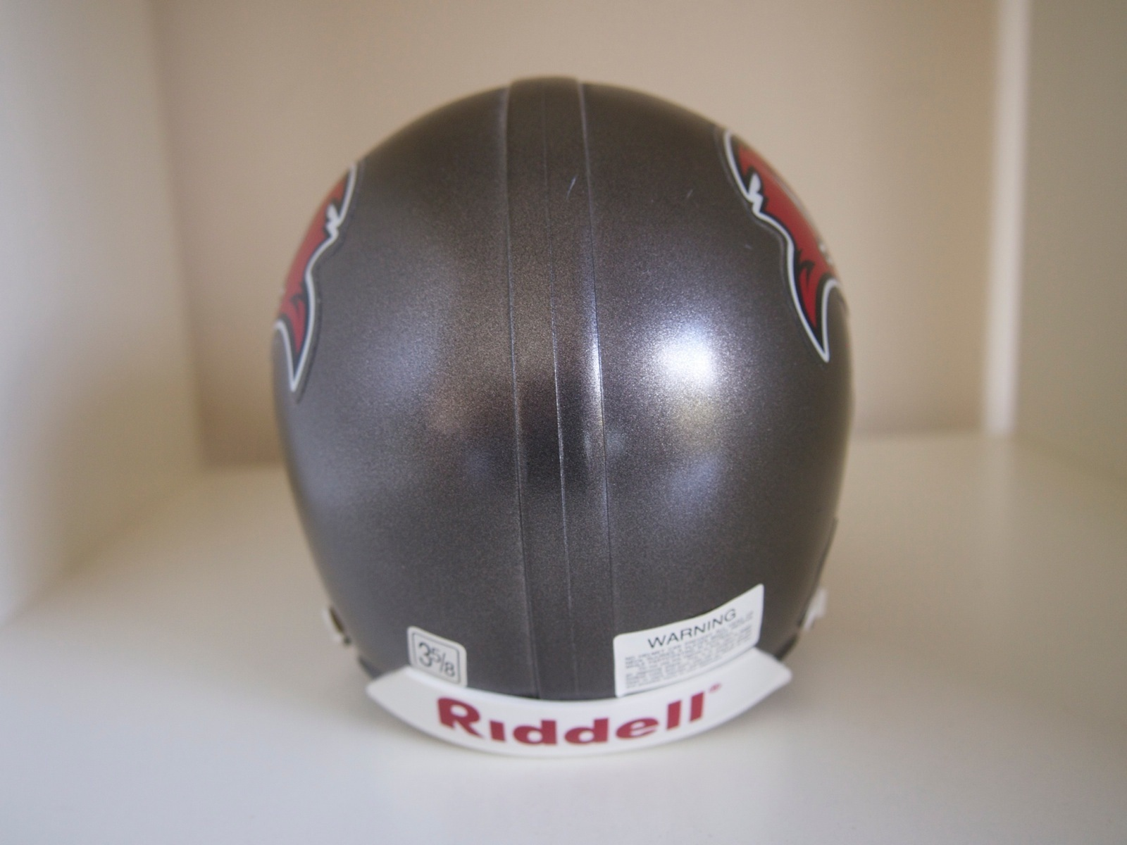 "Riddell Small Mini Helmet Tampa Bay Buccaneers Chin Strap 5"""