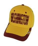 Washington Window Shade Font Men's Adjustable Baseball Cap (Gold/Burgundy) - $12.95