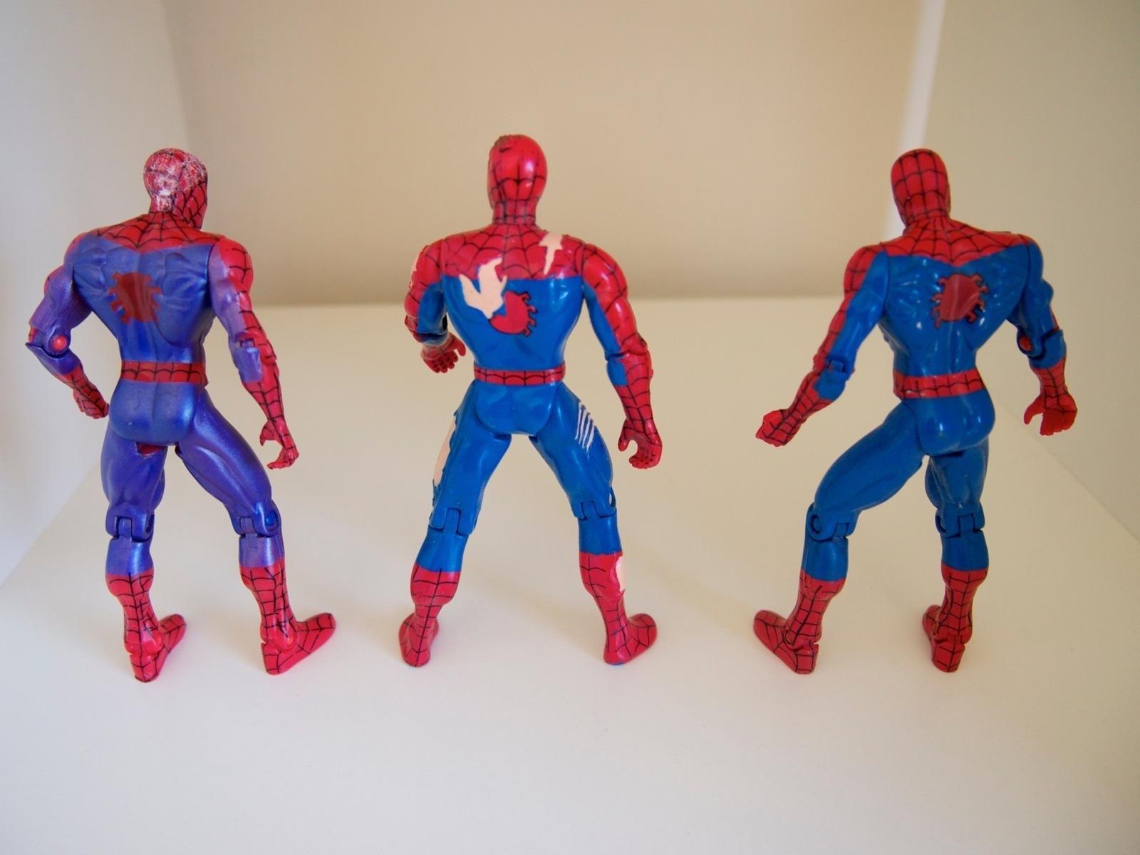 "Spider-Man Animated Toy Biz 1995 Marvel 5"" Lot Ravaged Purple"