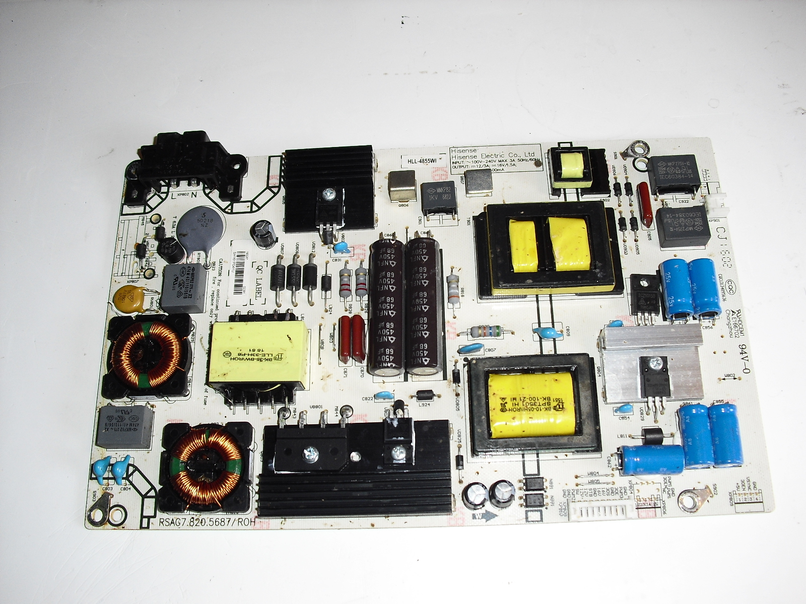 Primary image for rsag7.820.5687/roh   power  board  for  hisense   50hc5