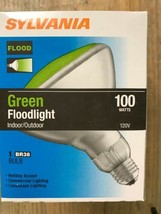 Sylvania Brand 100 Watt Green BR38 Outdoor Flood Bulbs - $9.89
