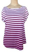 Liz Claiborne Striped T-Shirt Slub Henley Tee Petite Size PL New Msrp $3... - $9.99