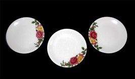 3 Royal Albert Embossed Majolica COUNTRY ROSE Dessert Salad Plates NWT B... - $27.99