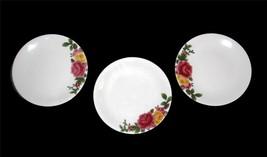 3 Royal Albert Embossed Majolica COUNTRY ROSE Dessert Salad Plates NWT Beautiful - $27.99