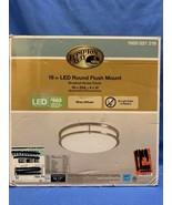 Hampton Bay 16 in. LED Round Flush Mount Brushed Nickel  - $24.74