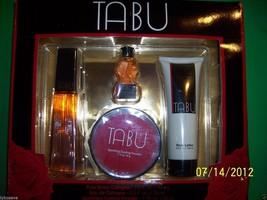 VINTAGE TABU 4 PC GIFTSET NEW IN BOX 3.0 OZ COLOGNE SPRAY FRE SHIP W/BUY... - $98.97