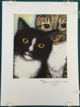 Cat Art Notecard - Homer & Rudy - $4.50