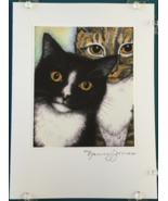 Cat Art Notecard - Homer & Rudy - $4.50