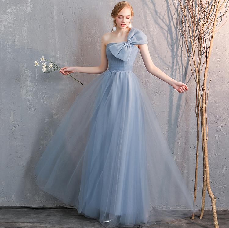 Bridesmaid tulle dress dusty blue 4