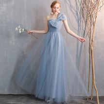 Bridesmaid Dress Off Shoulder Sweetheart Tulle Empire Dress Floor Length Wedding image 7