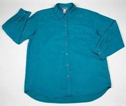 CHICO'S DESIGN WOMENS REGULAR SIZE 16 18  BLUE  SHIRT TOP BLOUSE CHICOS ... - $15.83