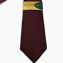 """Zylos George Machado Burgundy 100% Silk Neck Tie 58"""" L X 4"""" W *Made In The Usa - $11.87"""