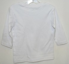 Blanks Boutique Boys Long Sleeve White Tee Shirt 12 Months image 2