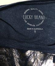 Lucky Brand Top T-Shirt Women's S Loose Fit Lightweight Linen Cotton Knit Flower image 5