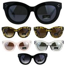 Womens Thick Horn Rim Plastic Giselle Designer Sunglasses - $13.26 CAD