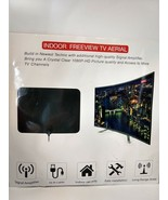 NEW Carbon Fibre Freeview TV Aerial Indoor Antenna Amplifier 120 Mile Range - $10.35