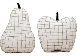 Aesthetic Minimal Grid Monochrome Fruit Throw Pillow - ₨1,004.63 INR