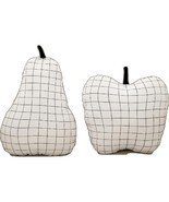 Aesthetic Minimal Grid Monochrome Fruit Throw Pillow - £11.41 GBP