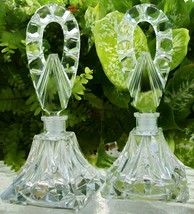 Matching PAIR Vintage Czech Perfume Bottles~Signed~Daubers Intact~RARE~6... - $391.99