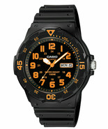 Men's Casio Black Orange accent Diver Style Sports Watch MRW200H-4BV Analog - $21.99